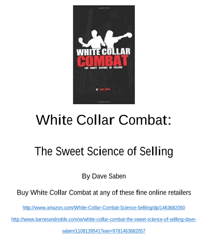 White Collar Combat – The Sweet Science of Selling